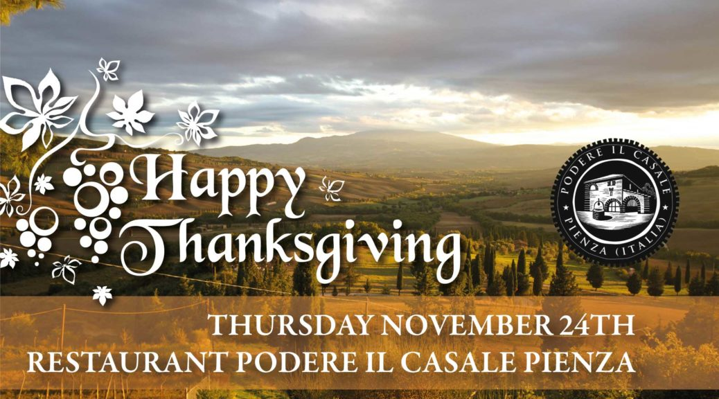 Happy thanksgiving day in Tuscany