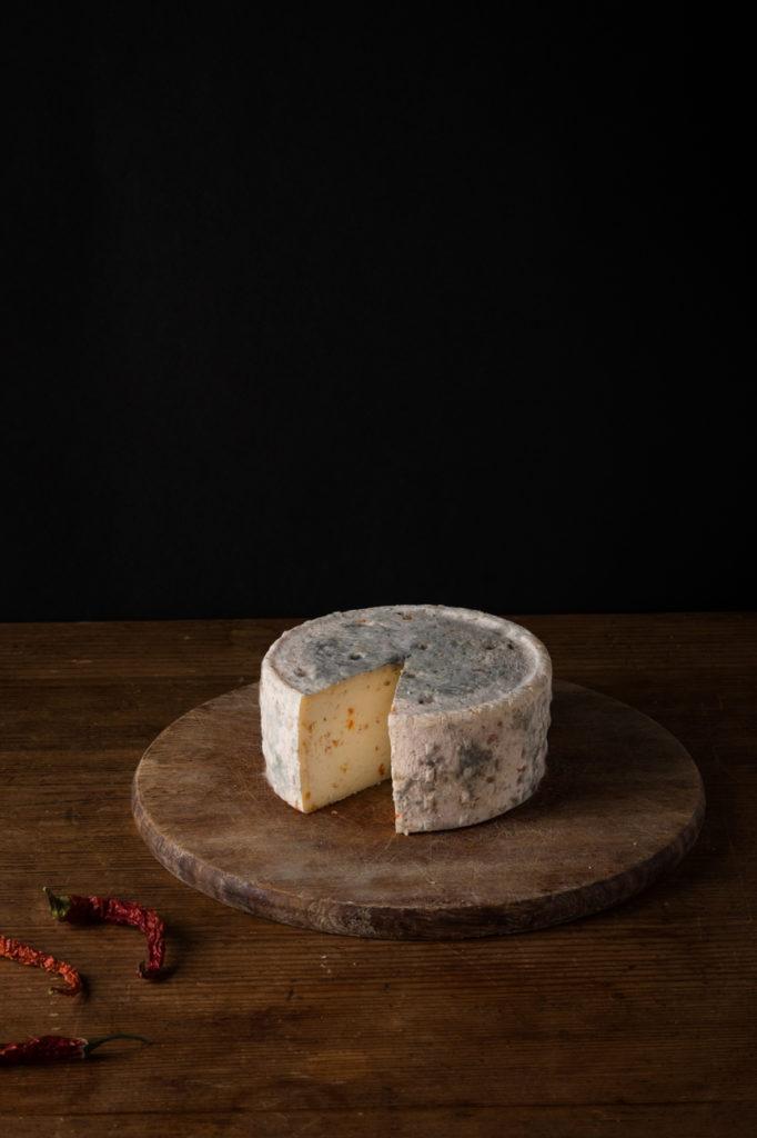 Pecorino cheese with chili