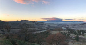 Paesaggio Toscana febbraio